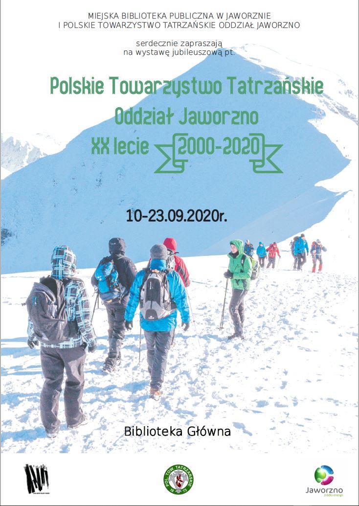 plakat - XX-lecie PTT Jaworzno - wystawa fotograficzna - Miejska Biblioteka Publiczna